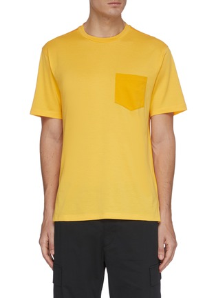 Main View - Click To Enlarge - THEORY - Patch pocket piqué cotton T-shirt