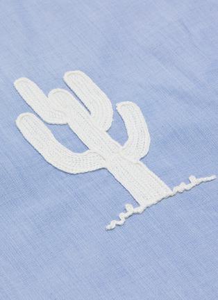- JIL SANDER - Cactus and Lizard Embroidery Mandarin Shirt