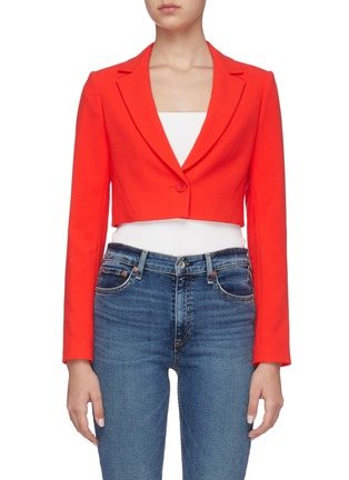 Main View - Click To Enlarge - ALICE + OLIVIA - Macy notched collar crop blazer