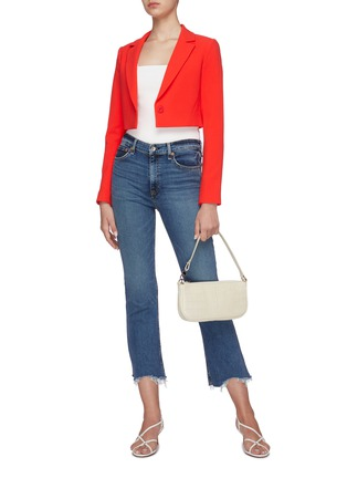 Figure View - Click To Enlarge - ALICE + OLIVIA - Macy notched collar crop blazer