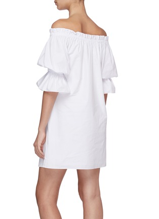 Back View - Click To Enlarge - ALICE + OLIVIA - Paola off-shoulder mini dress