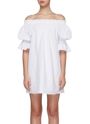 Main View - Click To Enlarge - ALICE + OLIVIA - Paola off-shoulder mini dress