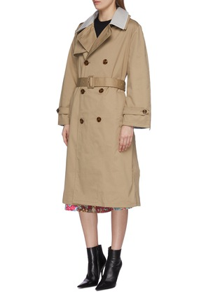 Front View - Click To Enlarge - VETEMENTS - Transparent back belted trench coat