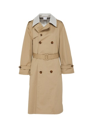 Main View - Click To Enlarge - VETEMENTS - Transparent back belted trench coat