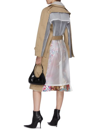 Figure View - Click To Enlarge - VETEMENTS - Transparent back belted trench coat