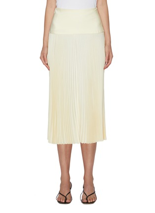 Main View - Click To Enlarge - EQUIL - High waist thick band pleated midi skirt