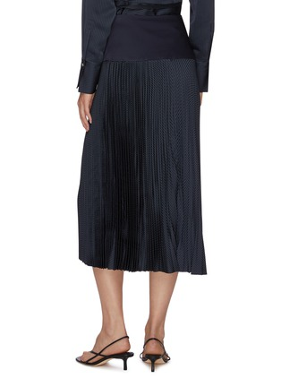 Back View - Click To Enlarge - EQUIL - High waist thick band pleated midi skirt