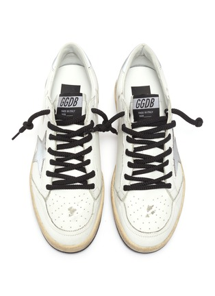 Detail View - Click To Enlarge - GOLDEN GOOSE - Ballstar reflective patch rope lace sneakers
