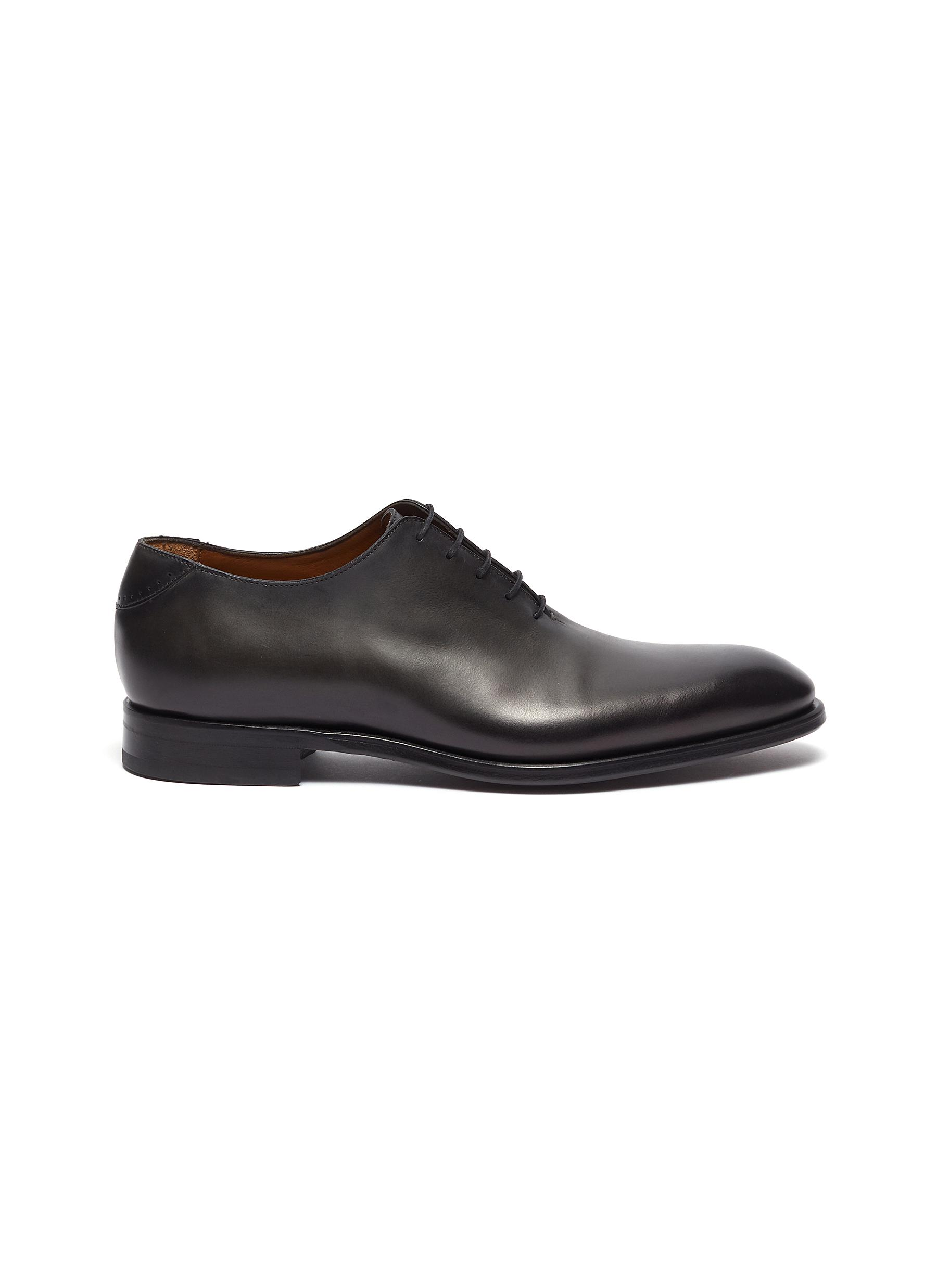 Old west whole cut leather oxford shoes