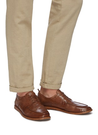 Figure View - Click To Enlarge - ANTONIO MAURIZI - Todi leather derby shoes