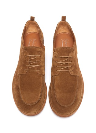 Detail View - Click To Enlarge - ANTONIO MAURIZI - Suede soft derby shoes