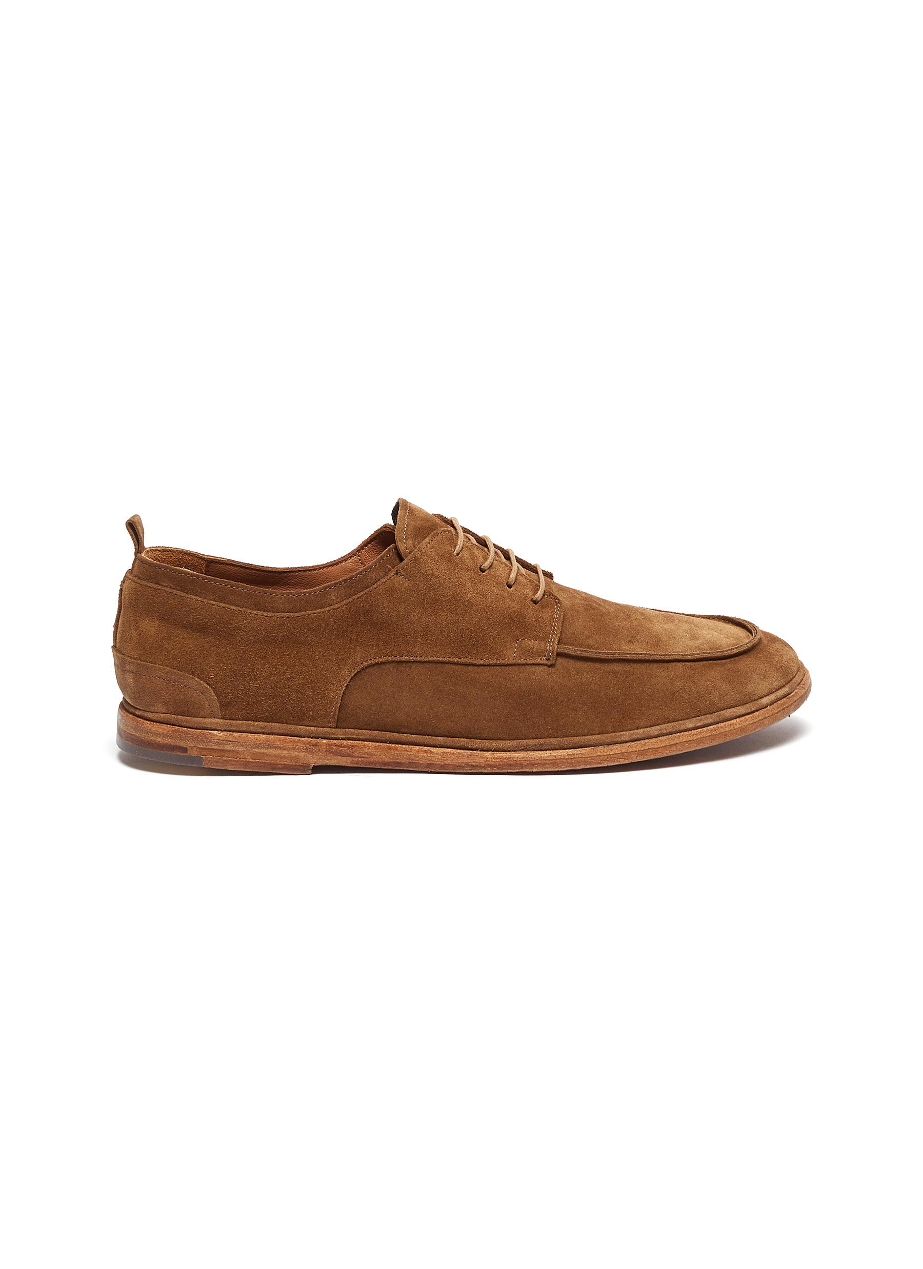 Suede soft derby shoes