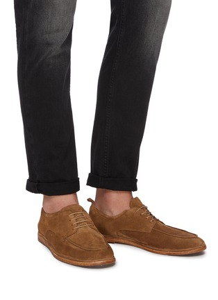 Figure View - Click To Enlarge - ANTONIO MAURIZI - Suede soft derby shoes