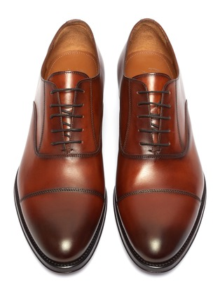 Detail View - Click To Enlarge - ANTONIO MAURIZI - Leather oxford shoes