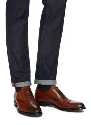 Figure View - Click To Enlarge - ANTONIO MAURIZI - Leather oxford shoes