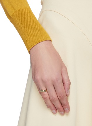 Figure View - Click To Enlarge - WWAKE - Limited edition gradient sapphire 14k gold ring