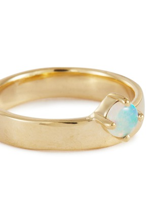 Detail View - Click To Enlarge - WWAKE - Opal 14k gold monolith ring