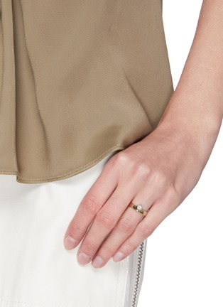 Figure View - Click To Enlarge - WWAKE - Opal 14k gold monolith ring