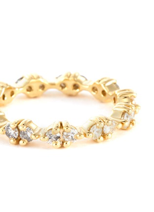 Detail View - Click To Enlarge - WWAKE - Pathway' gradient diamonds 14k gold eternity ring