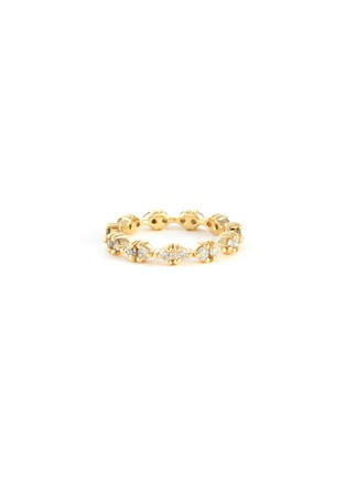 Main View - Click To Enlarge - WWAKE - Pathway' gradient diamonds 14k gold eternity ring