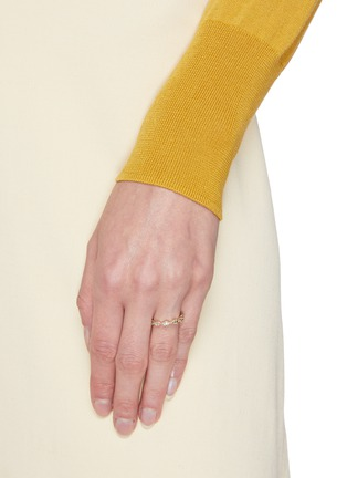 Figure View - Click To Enlarge - WWAKE - Pathway' gradient diamonds 14k gold eternity ring