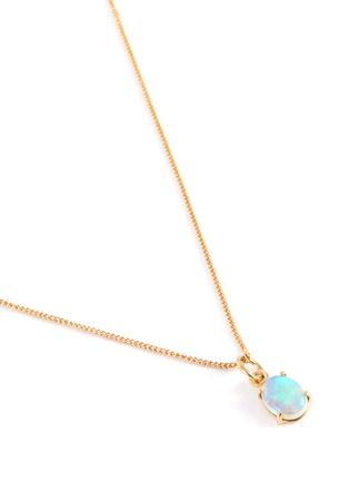 Detail View - Click To Enlarge - WWAKE - Opal pendant 14k gold necklace