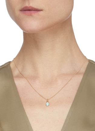 Figure View - Click To Enlarge - WWAKE - Opal pendant 14k gold necklace