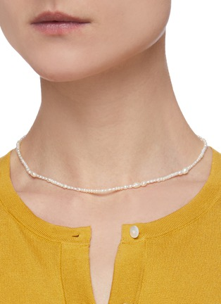 Figure View - Click To Enlarge - WWAKE - Freshwater pearl 14k gold necklace