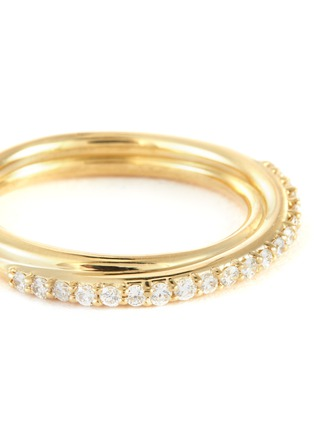 Detail View - Click To Enlarge - WWAKE - Demi diamond pave 14k gold ring