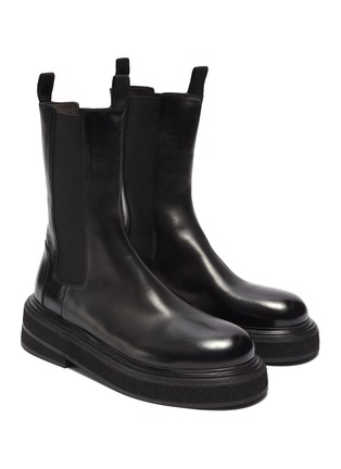 Figure View - Click To Enlarge - MARSÈLL - Zuccone' high leather Chelsea boots
