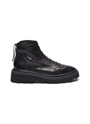 Main View - Click To Enlarge - MARSÈLL - 'Parrucca' leather combat boots