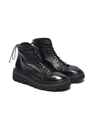 Figure View - Click To Enlarge - MARSÈLL - 'Parrucca' leather combat boots