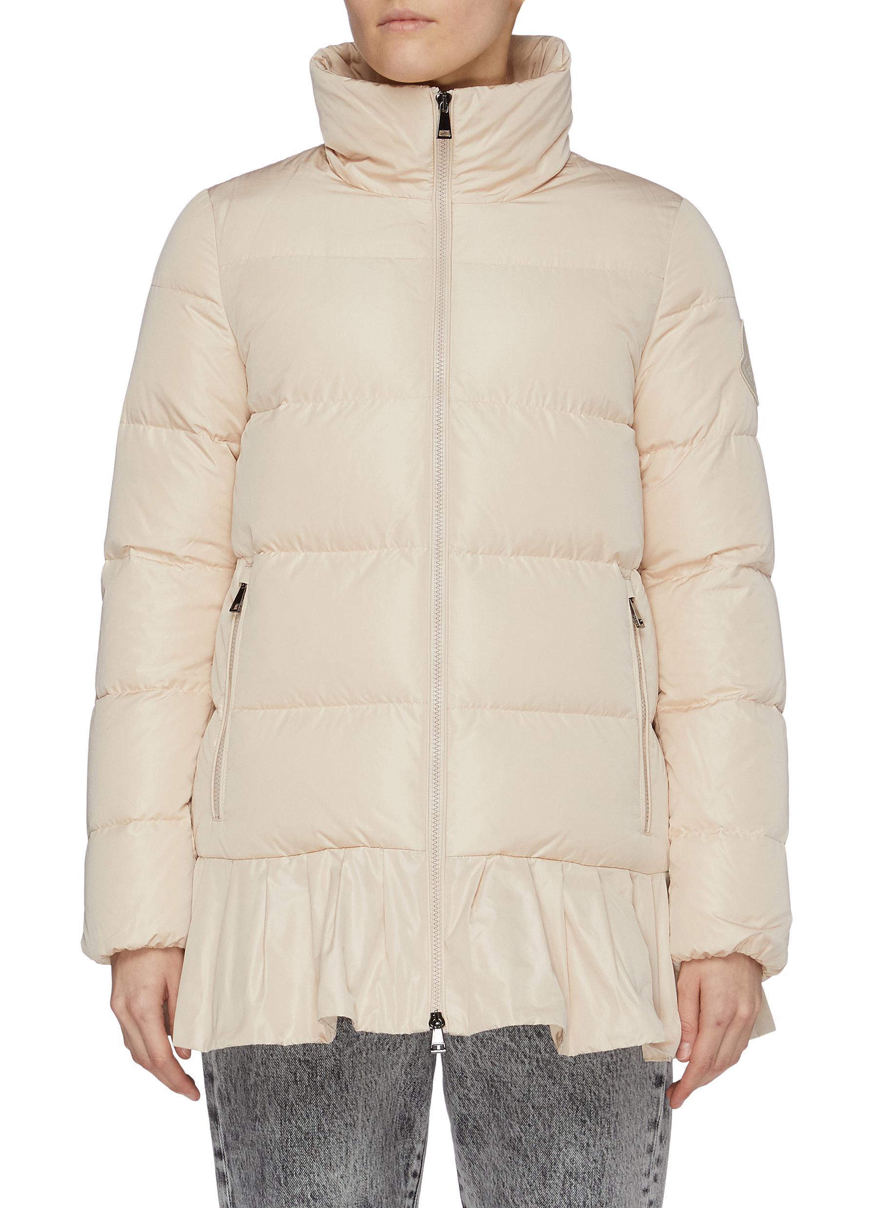 'Brunec' mock neck skirt hem puffer jacket