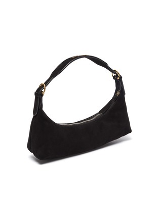 Detail View - Click To Enlarge - BY FAR - 'Mara' suede leather baguette shoulder bag