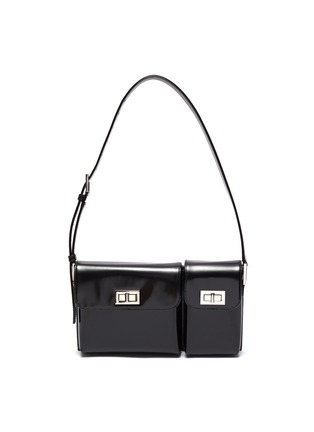 Main View - Click To Enlarge - BY FAR - Billy' dual pocket convertible leather shoulder bag