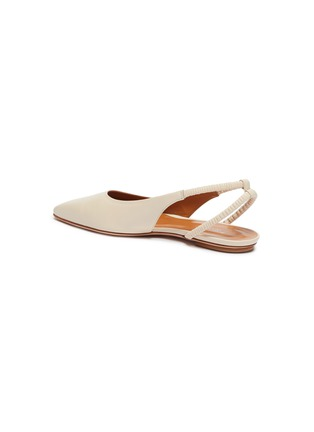 - ROSETTA GETTY - Point toe ruched slingback leather flats