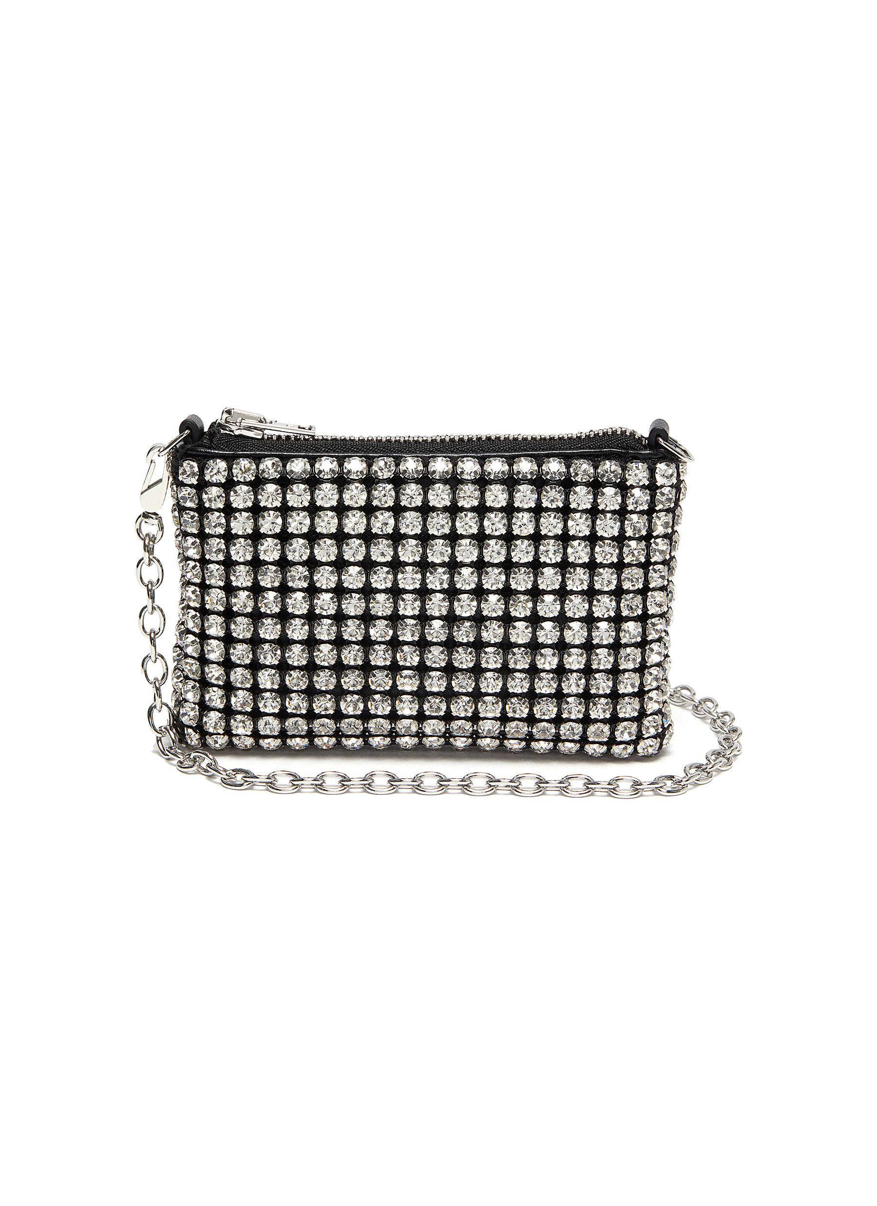 Alexander Wang 'WINGLOC' RHINESTONE TOP HANDLE POUCH