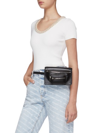 Front View - Click To Enlarge - ALEXANDER WANG - Attica leather three way bag