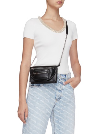 Figure View - Click To Enlarge - ALEXANDER WANG - Attica leather three way bag