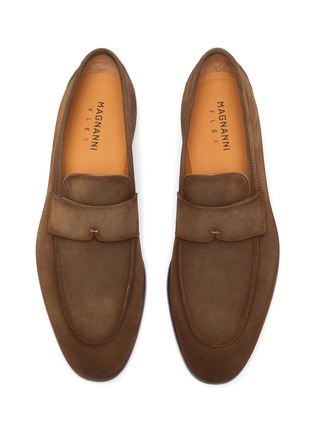 Detail View - Click To Enlarge - MAGNANNI - Side flex penny loafers