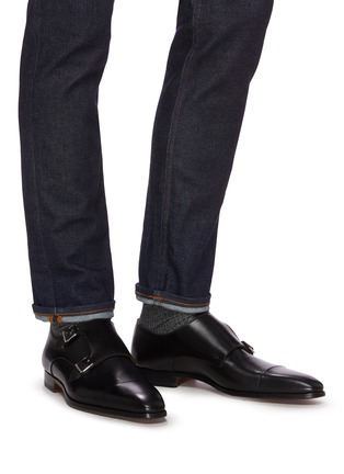 Figure View - Click To Enlarge - MAGNANNI - Double monk shoes