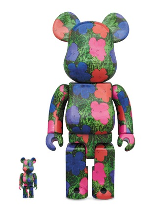 Main View - Click To Enlarge - BE@RBRICK - Andy Warhol Flowers 400% + 100% BE@RBRICK Set