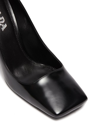 Detail View - Click To Enlarge - PRADA - Square toe leather pumps