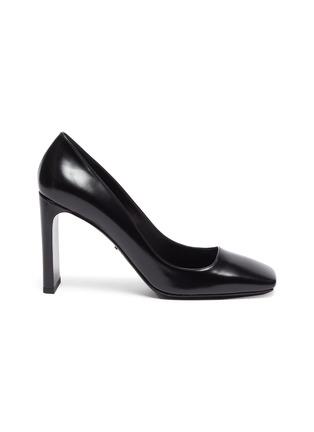 Main View - Click To Enlarge - PRADA - Square toe leather pumps