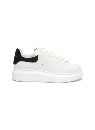 Main View - Click To Enlarge - ALEXANDER MCQUEEN - Oversized leather kids sneakers