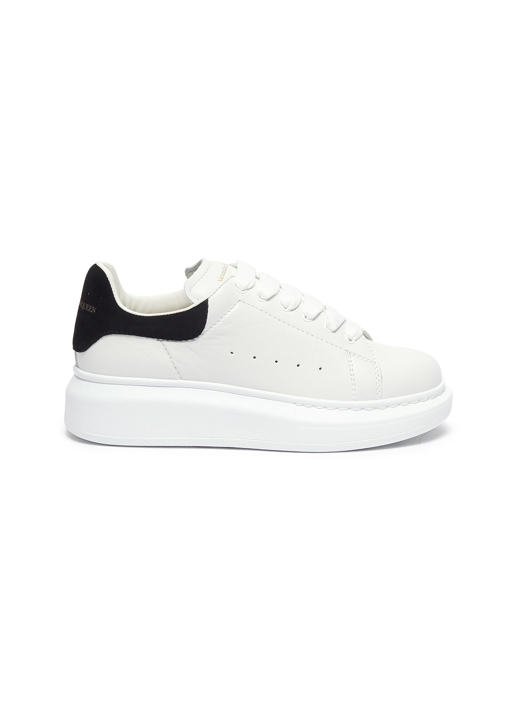 Oversized leather kids sneakers