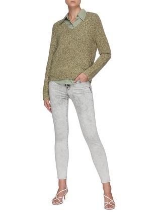 Figure View - Click To Enlarge - J BRAND - Alana' Crop Leg Denim Skinny Jeans