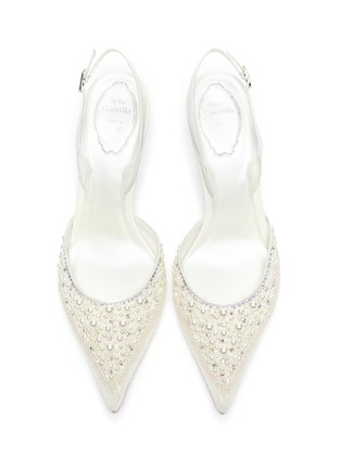 Detail View - Click To Enlarge - RENÉ CAOVILLA - Pearl embellished lace slingback pumps
