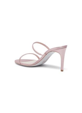 - RENÉ CAOVILLA - Double strap strass embellished satin heel sandals