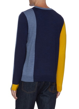 Back View - Click To Enlarge - JW ANDERSON - Colourblock crewneck sweater